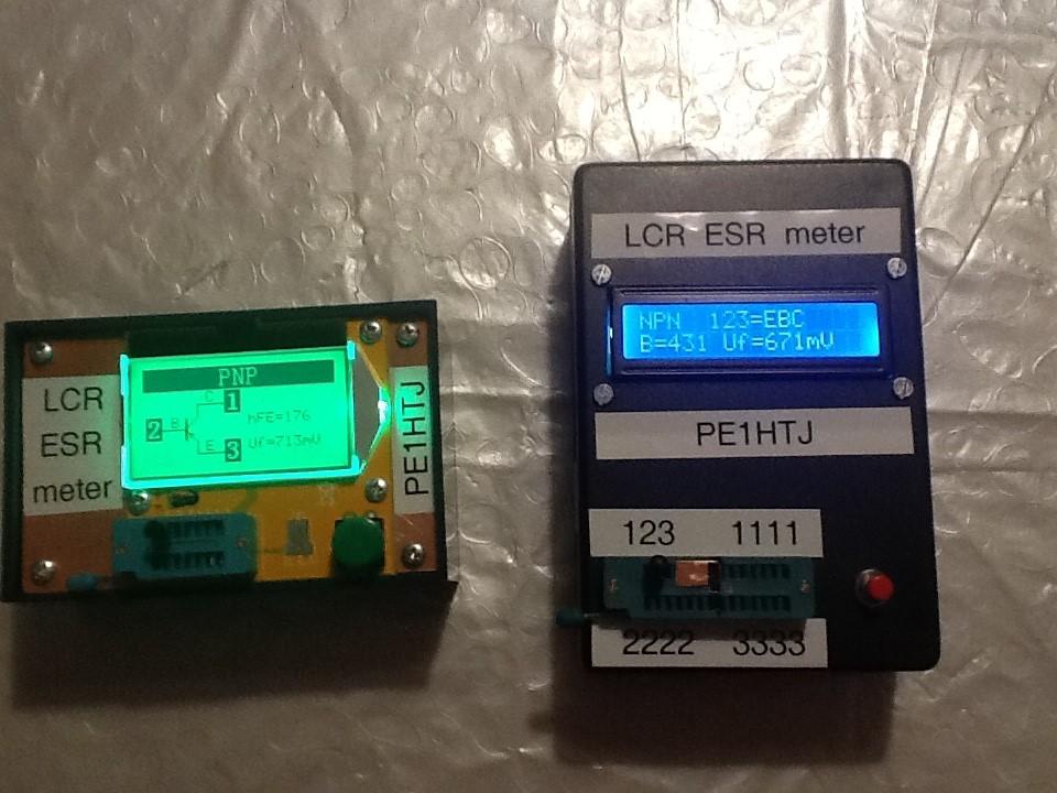 LCR-ESR meters (Foto PE1HTJ)